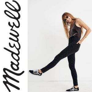"Madewell 9"" Mid-Rise Skinny Jeans: Metallic Dot"